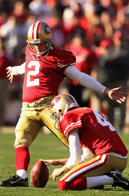 The season could come down to the kicking of David Akers