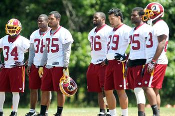 "Royster (35) and Helu (29) will ""one-cut"" their way to daylight. Redskins.com"