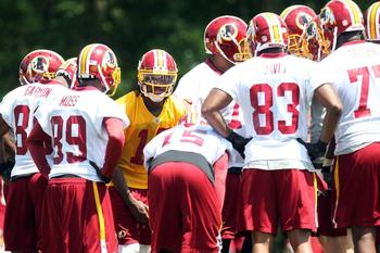 Garcon, Moss and Davis (83) lead a proficient group of pass catchers. Redskins.com
