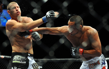 Dan Henderson during his knockout-of-the-year performance against Mike Bisping in 2009.
