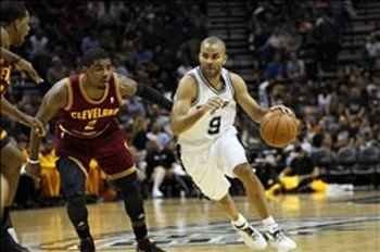Kyrie Irving and Tony Parker