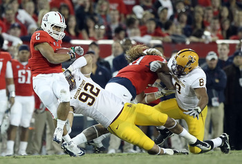 Jamaar Jarrett (92) had 40 tackles, 10.5 for a loss, last season at Arizona State.