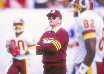 Joe Gibbs led the Redskins to three Super Bowl titles in a 10-year span (1982-91)