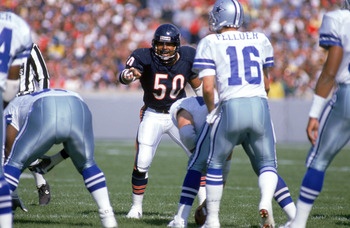 It wasn't much fun lining up against Bears' middle linebacker Mike Singletary