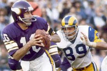 Fran Tarkenton led the Vikings to three Super Bowls in a four-year span Photo credit: nycatr.blogspot.com