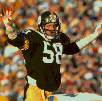 Few could match the intensity of Steelers' linebacker Jack Lambert Photo credit: gunningsports.com