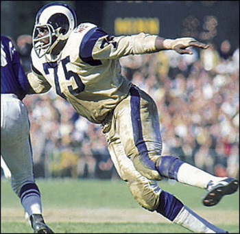 """Deacon"" Jones brought the heat to opposing quarterbacks on a weekly basis Photo credit: answersfrommen.com"