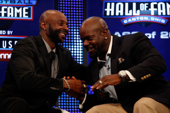 Jerry Rice (left) and Emmitt Smith are 1-2 in NFL history in touchdowns scored