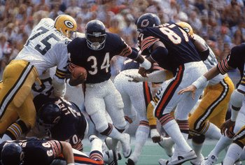 Tackling Bears' running back Walter Payton was no easy task