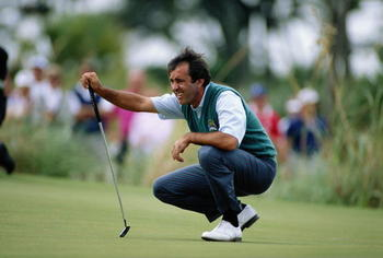 Seve Ballesteros at the 1991 Ryder Cup