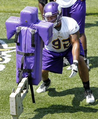 Trevor Guyton at a June Vikings minicamp