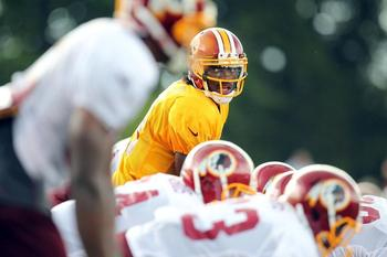 RGIII has shown a propensity to lead. Redskins.com/Ned Dishman