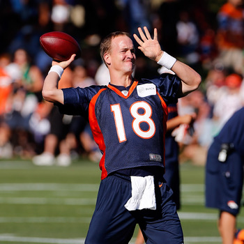 For the Broncos, it all rests on the back of Manning (pictured)