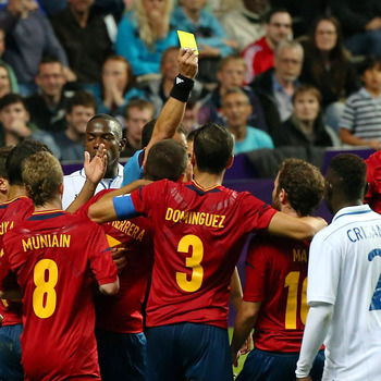Spain Received Yellow Card in Spain VS Honduras Olympic Match