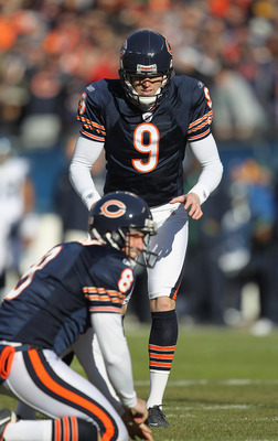 Adam Podlesh and Robbie Gould