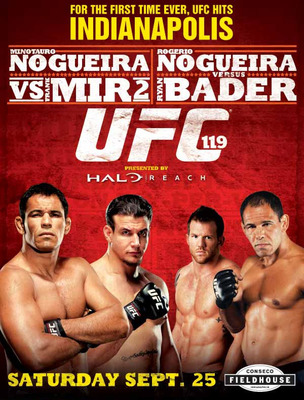 UFC 119, also, was mediocre throughout but is mostly remembered for a bad main event fight.