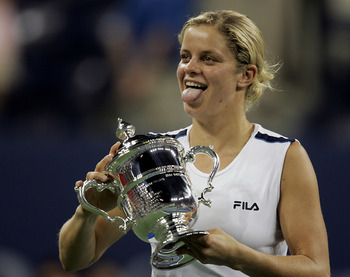 Kim Clijsters had much to celebrate in 2005, not only winning her first major, but coming home with a $2.2 million dollar paycheck.