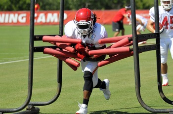 July 29, 2012; St. Joseph, MO, USA;  Kansas City Chiefs running back Jamaal Charles (25) runs agility drills during training camp at Missouri Western State University. Mandatory Credit: Denny Medley-US PRESSWIRE