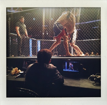 UFC matchmaker Joe Silva watches the &quot;Action.&quot; Photo via UFC Tonight