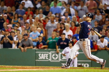 Joe Mauer hit a three-run home run in the top of the ninth to propel the Twins to their third straight win
