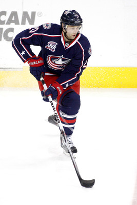 Kristian Huselius of the Columbus Blue Jackets.