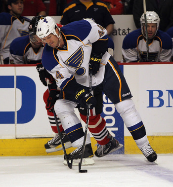 Jason Arnott of the St. Louis Blues.