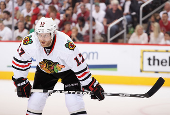 Brendan Morrison of the Chicago Blackhawks.