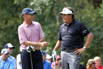 Davis Love III and Mickelson.