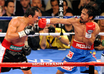 Pacquiao and Marquez wear Reyes.