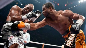 Jean Pascal wears Rival gloves against B-Hop.