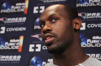 FOXBORO, MA - MAY 11:   Chandler Jones #37 of the New England Patriots speaks during a press conference before the start of the 2012 Rookie Mini Camp at Gillette Stadium on May 11, 2012 in Foxboro, Massachusetts. (Photo by Jim Rogash/Getty Images)