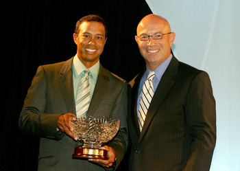 Tiger's Player of the Year Trophy in 2007