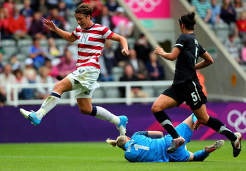 Abby Wambach and the U.S. women's soccer team leave a trail of fallen opponents in their wake.