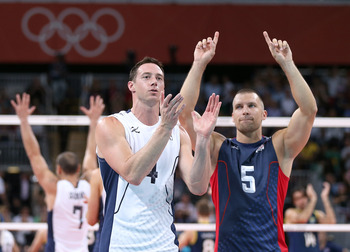The U.S. men's volleyball team isn't a medal favorite, but it sure is playing like one.