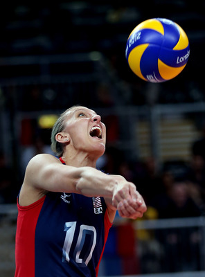 Jordan Larson and the U.S. women's volleyball team will bump up their country's medal count.