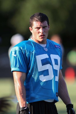 Luke Kuechly (59) was the Panthers' first selection (No. 9 overall) in the 2012 NFL Draft.