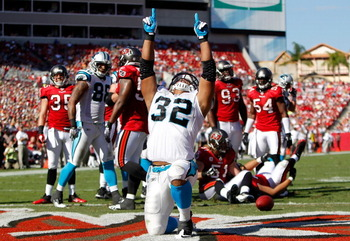 Josh Vaughan (32) will need to shine on special teams to make the Panthers' 53-man roster.