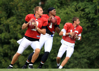 Jimmy Clausen, Cam Newton and Derek Anderson
