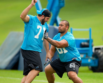 Amini Silatolu (61) was the Panthers' second-round selection in the 2012 NFL Draft.