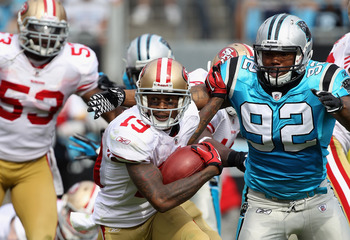 Eric Norwood (92) could become a force for the Panthers when they line up in a 3-4 defense this season.