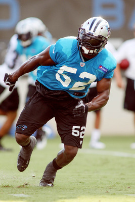 Jon Beason is back in action after a season-ending Achilles injury in the first game of 2011.