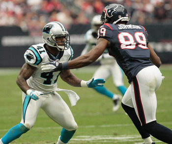 Captain Munnerlyn (41) faces a big challenge trying to hold on to his starting cornerback position this season.