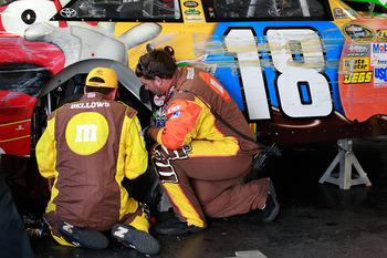 Kyle Busch's car and Chase hopes took a hit at Pocono