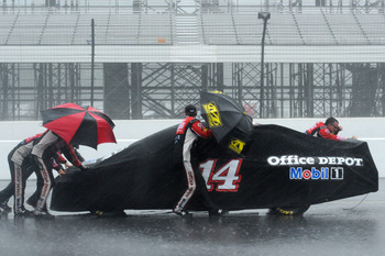 Weather played havoc at the Pocono Raceway