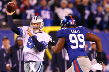 Tony Romo finally has pressure taken off his shoulders by a rushing attack and aggressive defense.