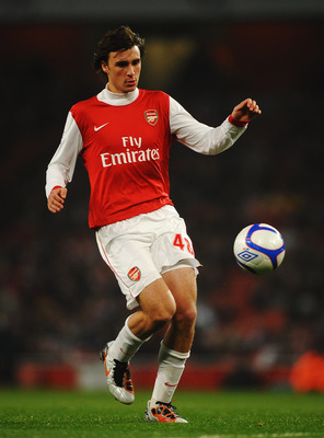 Arsenal's Ignasi Miquel made his debut in the FA Cup.