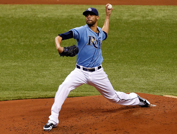 ST PETERSBURG, FL - AUGUST 05:  Pitcher David Price #14 of the Tampa Bay Rays pitches against the Baltimore Orioles during the game at Tropicana Field on August 5, 2012 in St. Petersburg, Florida.  (Photo by J. Meric/Getty Images)