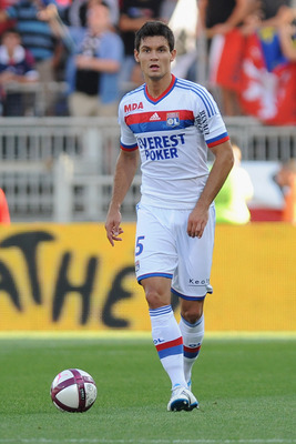 Dejan Lovren in action for OL.