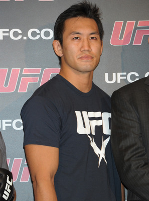 TOKYO, JAPAN - SEPTEMBER 06:  Yushin Okami attends the UFC press conference at Shinjuku Wald 9 on September 6, 2011 in Tokyo, Japan. The UFC will hold the Japan Tournament on February 26, 2012.  (Photo by Koki Nagahama/Getty Images)