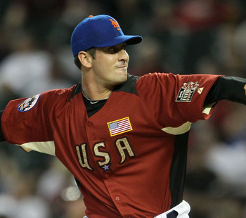 PHOENIX, AZ - JULY 10:  U.S. Futures All-Star Matt Harvey #43 of the New York Mets throws a pitch during the 2011 XM All-Star Futures Game at Chase Field on July 10, 2011 in Phoenix, Arizona.  (Photo by Jeff Gross/Getty Images)